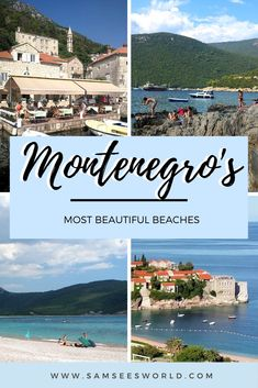 Here is a list of all the best beaches in Montenegro. Montenegro is the ultimate European summer getaway travel destination and spending some time on a stunning beach is the best way to spend it. #Montenegro #Beaches #Travel #Wanderlust Magical Vacations Travel, Dream Vacations, Vacation Trips, European Road Trip, European Summer, Travel Through Europe, Travel Around The World, Canada Travel, Asia Travel