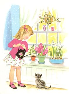 """""""A Garden Is Good"""" by Lillie D. Chaffin. Illustrations by Marjorie Cooper. Copyright 1963 (https://www.etsy.com/listing/126258771/a-garden-is-good-vintage-rand-mcnally?ref=shop_home_active)"""