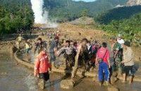 Evakuasi Korban Longsor PGE Bengkulu Terkendala Cuaca