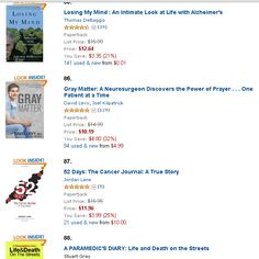 52 Days:The Cancer Journal is number 87 Best Sellers in Medical Professional Biographies. Together we can stop cancer. Cancer Journal, Gray Matters, Power Of Prayer, Lose My Mind, Biographies, Together We Can, Alzheimers, Losing Me, True Stories