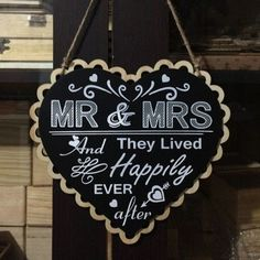 Heart shaped wooden plaque - 2 styles