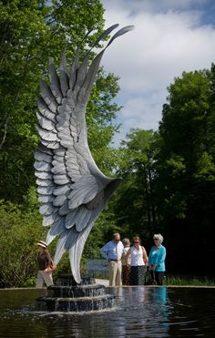 """Recovery Wing"" sculpture at Swan Lake Gardens in Sumter SC.  It measures approx 20 feet tall."