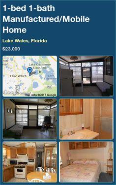 1-bed 1-bath Manufactured/Mobile Home in Lake Wales, Florida ►$23,000 #PropertyForSale #RealEstate #Florida http://florida-magic.com/properties/7358-manufactured-mobile-home-for-sale-in-lake-wales-florida-with-1-bedroom-1-bathroom