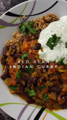 Red Bean Indian Curry with Gluten-Free Grains Pilaf Inspired by Rajma Dal, an Indian kidney bean and tomato curry dish. Bean Recipes, Salad Recipes, Quinoa, Indian Food Recipes, Vegetarian Recipes, Tomato Curry, Curry Dishes, Gluten Free Grains, Indian Curry