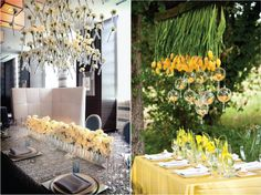 Hanging Flowers Wedding