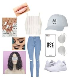 """Untitled #193"" by jacobsbae ❤ liked on Polyvore featuring Topshop, Glamorous, NIKE, Chicnova Fashion and MDMflow"