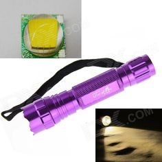 UltraFire 10W 800lm 5-Mode Warm White LED Memory Flashlight - Purple (1 x 18650 / 2 x CR123A). Note: We are currently unable to ship to addresses in HongKong, mainland of China. Perfect for camping, hiking, driving and home use; Color: Yellow ( look lilke xenon) Input voltage: 3.7-4.2V Torch Size: 135 x 25mm Torch Diameter: 30mm Battery: 1x18650/ 2xCR123A. Tags: #Lights #Lighting #Flashlights #LED #Flashlights #18650 #Flashlights