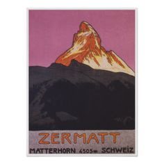 Zermatt Vintages Reise-Plakat Poster