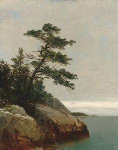 "blackwoodandbrass: arsvitaest: ""The Old Pine, Darien, Connecticut"" Author: John Frederick Kensett (American, 1816-1872) Date: 1872 Medium: Oil on canvas Location: The Metropolitan Museum of Art, New York"