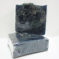 Handmade Glycerin Soap Bar  Deep Blue Sea Scent with Loofah