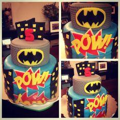 Batman Birthday fondant cake