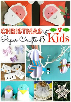 Christmas Paper Crafts for Kids. Combine paper with basic stationery items such as scissors, pens and glue and you have a fantastic list of fabulous Christmas Crafts and Christmas DIYs for kids and grown ups. Love how versatile Christmas Paper Crafts, Paper Crafts For Kids, Easy Crafts For Kids, Christmas Activities, Craft Activities, Christmas Projects, Kids Christmas, Holiday Crafts, Preschool Ideas