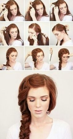 This is so simple to do! You can start at any part of your head, or even give yourself two ponytails. I've tried this when I was bored and my hair is waist long. ^_^