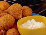 """Buffalo Chicken Cheese Balls..I'm not kidding: if you want to be a hit at the next """"get-to-gether""""..arrive with these. They will be gone in seconds and people will gravel at your feet for the remainder of the evening. TO DIE FOR. And, add less frank's for a kiddie safe version. you won't regret it."""