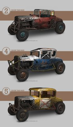 """Banger racers"""" by - deviantART Mad Max, Weird Cars, Cool Cars, Zombie Survival Vehicle, Arte Zombie, Kustom Kulture, Car Drawings, Modified Cars, Dieselpunk"""