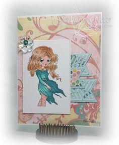 Glitter in my Hair, lemon shortbread, ribbons in hair girl, mojo432, mojo monday, mojo sketch
