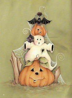 Halloween friends B-) Feliz Halloween, Adornos Halloween, Halloween Clipart, Halloween Signs, Holidays Halloween, Spooky Halloween, Halloween Themes, Vintage Halloween, Halloween Pumpkins