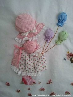 An Idea to go with Sunbonnet Sue . Applique Patterns, Applique Quilts, Applique Designs, Quilt Patterns, Embroidery Designs, Sunbonnet Sue, Crazy Quilting, Patchwork Quilting, Quilt Baby