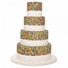Sprinkles birthday cake.