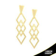 Mostrar detalhes para Brinco Fosco com Diamantado - 0209802