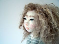 "Jeanne, a ""spring girl"", art doll by Feltoohlala."