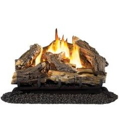 Cedar Ridge Hearth�30-in W/23-in W 32,000-BTU Dual Vent-Free Gas Fireplace Logs with Thermostat