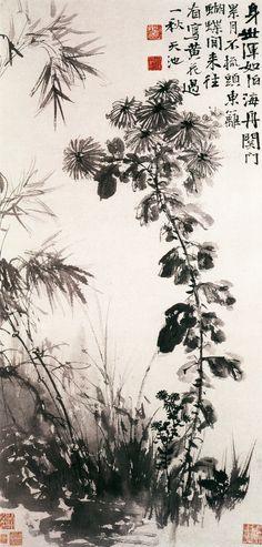 Xu Wei - Chrysanthemums and Bamboos