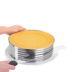C-xuan 6-8 Inch Round Cake Pans Stainless Steel Adjustable Cake Layer Cutter Slicer Slicing Bakeware Cake (Silver) -- Wow! I love this. Check it out now! : Cake Pans
