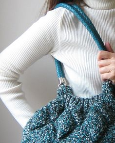 Hey, I found this really awesome Etsy listing at https://www.etsy.com/listing/114537341/tote-bag-knitted-in-tweed-teal-wool