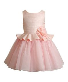Look what I found on #zulily! Pink Flower Layered Dress - Infant, Toddler & Girls #zulilyfinds
