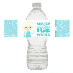 Frozen Water Bottle Wrapper, Elsa Birthday by SugarPickleDesigns, $3.50