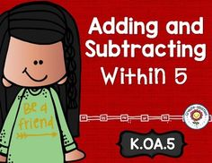 Addition and Subtraction Within 5 Math Tasks and Exit Tickets - Use this 22 page resource with your Kindergarten classroom or homeschool students to help them better understand adding and subtracting within five. You'll get 5 math tasks for cooperative learning, 7 exit tickets for individual assessment, and I can statements. This is great for math centers or stations, review, small group instruction, morning work, and more! {K Math Center} $