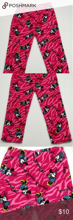 Disney Minnie Mouse Fleece Pajama Pants Excellent preowned condition.   Size Medium  Waist -  30 inches  Inseam - 27.5 inches Disney Intimates & Sleepwear Pajamas
