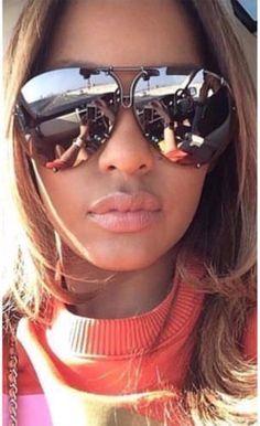 4.99 GBP - Silver Aviator Mirrored Sunglasses Oversized Reflective Huge Luxury Flat Top Uk #ebay #Fashion