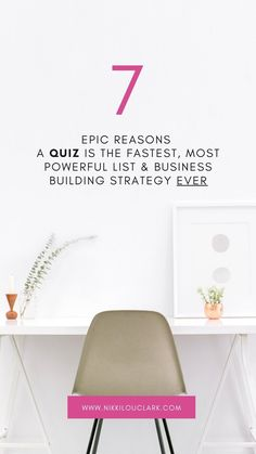 I know a quiz is the fastest, most powerful list building and business building strategy ever because I have used this strategy in my business for years, and in many of my clients' businesses. The results have been nothing short of amazing, and I want you to have a piece of that goodness too!