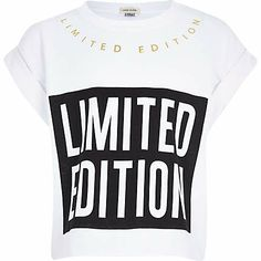 Girls white limited edition print t-shirt £8.00