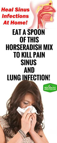 EAT A SPOON OF THIS HORSERADISH MIX TO KILL PAIN, SINUS AND LUNG INFECTION!<,>