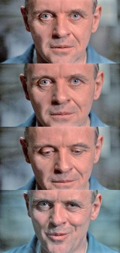 Anthony Hopkins as Dr. Hannibal Lecter in The Silence of the Lambs, (1991).