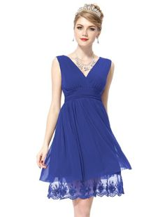 Ever Pretty Sexy Double V-neck Ruched Cocktail Dress 00279