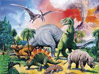 Foto: Ravensburger puzzel Tussen de dinosauri\u00EBrs