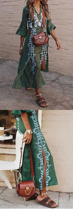Summer 2019 Outfit Fashion for Women: Embroidered Boho Dress -- Sommer 2019 Outfit Mode für Damen: Embroidered Boho Dress – Summer 2019 Outfit Fashion for Women: Embroidered Boho Dress – # Summer outfit ladies coast - Boho Style Dresses, Trendy Dresses, Boho Dress, Nice Dresses, Short Beach Dresses, Summer Dresses For Women, Dress Beach, Dress Long, Trendy Fashion