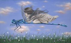 """Michael Godard """"Dragonfly 2 """" 16"""" by 26.5"""" Limited Ed G Series 50"""