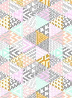 Imagen de wallpaper, pattern, and background Graphic Patterns, Textile Patterns, Textiles, Geometric Patterns, Pretty Patterns, Beautiful Patterns, Surface Pattern Design, Pattern Art, Motif Vintage