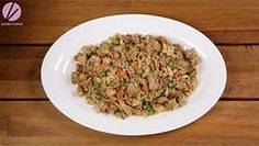 Chicken fried rice is one of the menus that you can serve to anyone, any time! My chicken fried rice recipe is healthier because I'm using brown jasmine ric Chicken Rice Soup, Chicken Salad Recipes, Rice Recipes, Simple Beef Curry, Chow Fun Recipe, Fried Rice Recipe Video, Spicy Miso Ramen Recipe, Thai Grilled Chicken