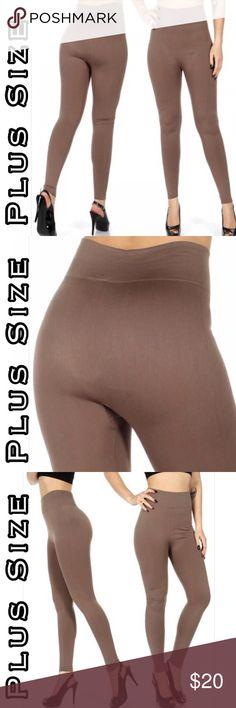 b15263e9596 OS Fits JOAN Fleeced Lined Mocha Leggings Plus size fleece lined leggings.  OS fits Beauty Shines On Boutique Pants Leggings