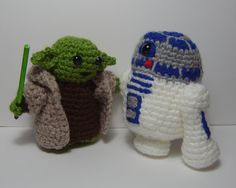 Yoda or R2D2 Star Wars inspired crochet character by pamcrafteduk on Etsy