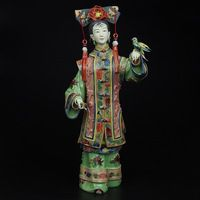 New Chinese Painted Porcelain Pure Manual Figurine Ceramic Ornament Bird Safe Figure Craft Handmade Art Collectible Traditional