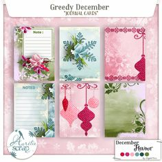 "What inspired me this month is the greed which drives us during this December... I do not know if I am the only one, but in any case, I am ashamed to say it:  As soon as in December ring at my door, I tell yes the greed... Say in your turn ""yes""!! #scrap #scrapbooking #digital #inspiration #DIY"