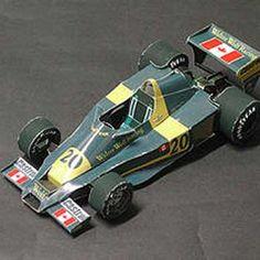 F1 Paper Model - Walter Wolf Racing Model 5 Paper Car Free Vehicle Paper Model…