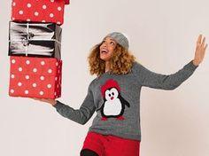 A porter pendant la période des fêtes, c'est le bon pull de Noël fantaisie et sport à tricoter en jersey avec son motif jacquard sur le devant. Tutu, Ronald Mcdonald, Christmas Sweaters, Graphic Sweatshirt, Couture, Knitting, Sweatshirts, Diy, Sport